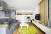 Фото 30 Компактные решения: создаем дизайн студии площадью 25 кв. метров с балконом