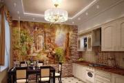 Фото 20 Фреска на кухне в интерьере: обзор ярких дизайнерских идей и способы укладки своими руками