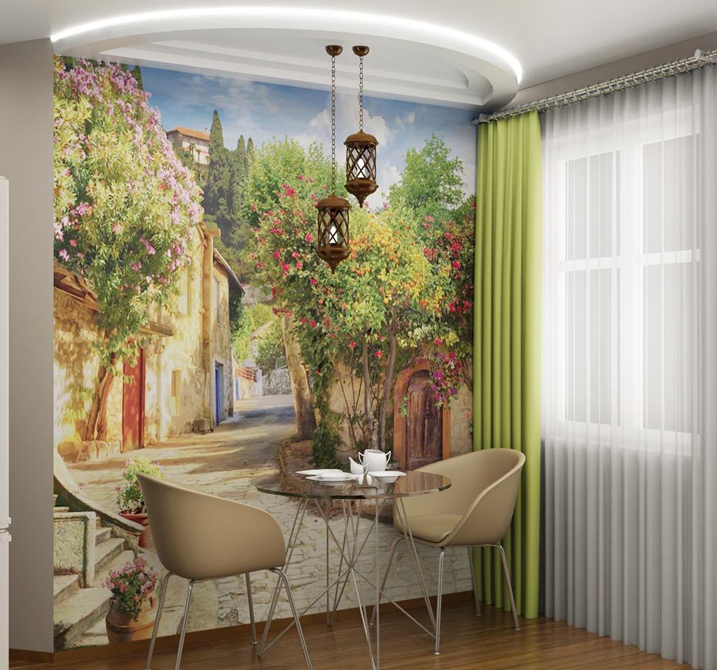 Фреска на кухне в интерьере 60 фото потрясающих идей #Дизайн
