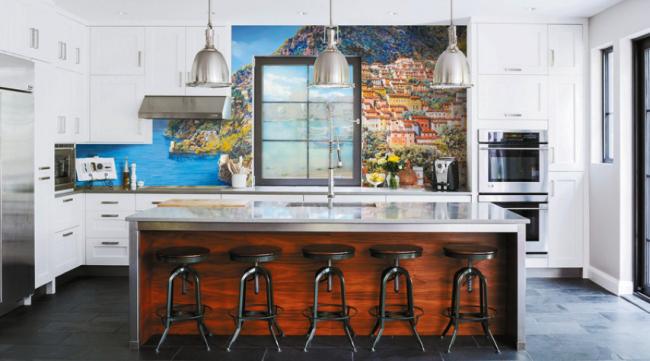 Эксклюзивное украшение для стен в кухонном помещении