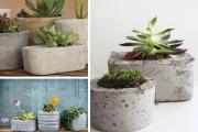 Фото 19 Кашпо, вазоны и горшки из бетона: мастер-класс по изготовлению своими руками