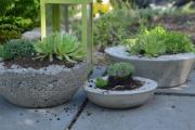 Фото 20 Кашпо, вазоны и горшки из бетона: мастер-класс по изготовлению своими руками