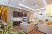 Фото 13 Гостиная 30 кв. метров: зонирование, дизайн-планировки и 65+ современных фото интерьеров