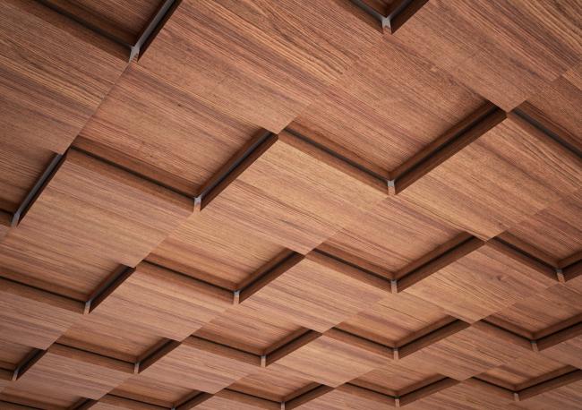 Кассетный потолок Luxalon с 3D-эффектом