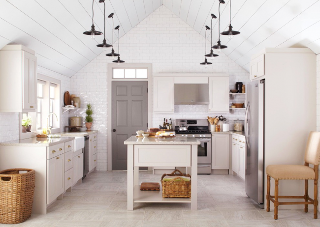 Уютная кухня в духе кантри
