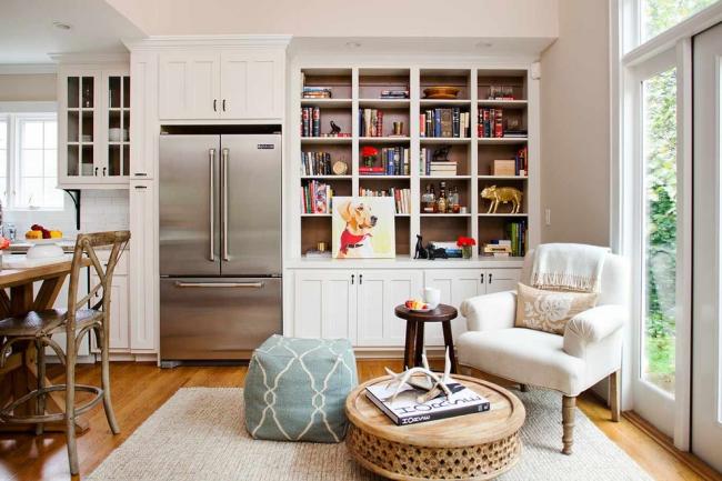 Белый цвет идеально подойдет для оформления небольших комнат