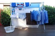 Фото 6 Лиана для сушки белья на балконе: обзор конструкций и варианты установки