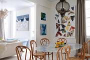 Фото 19 Свет гастрономии: обзор стильных кухонных интерьеров с люстрой над обеденным столом