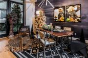 Фото 20 Свет гастрономии: обзор стильных кухонных интерьеров с люстрой над обеденным столом