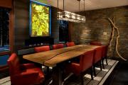 Фото 23 Свет гастрономии: обзор стильных кухонных интерьеров с люстрой над обеденным столом