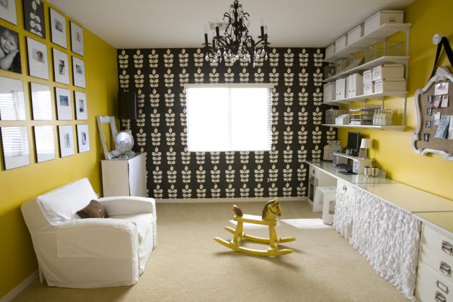 Использование черного цвета в дизайне детской комнаты