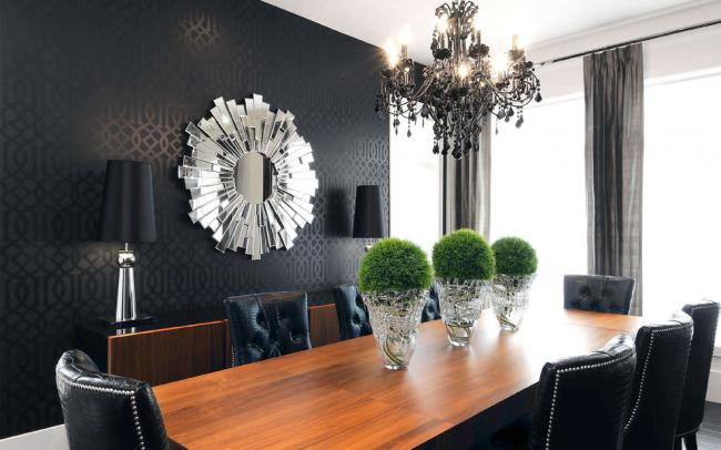 Интерьер столовой в стиле современная классика
