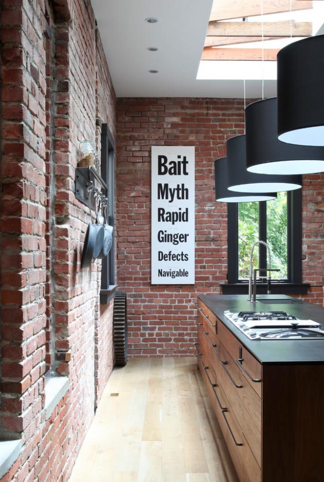 Гармоничное сочетание стен и мебели в дизайне кухни