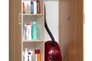 Фото 28 Компактное хранение (75+ идей): выбираем функциональный шкаф для пылесоса и гладильной доски