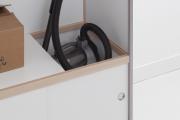 Фото 15 Компактное хранение: выбираем функциональный шкаф для пылесоса и гладильной доски