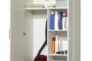 Фото 25 Компактное хранение (75+ идей): выбираем функциональный шкаф для пылесоса и гладильной доски