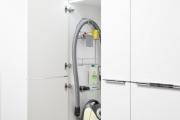 Фото 9 Компактное хранение (75+ идей): выбираем функциональный шкаф для пылесоса и гладильной доски