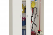 Фото 21 Компактное хранение: выбираем функциональный шкаф для пылесоса и гладильной доски