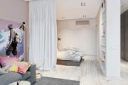 Фото 4 Объединяя пространство: планируем стильный дизайн спальни-гостиной 16 кв. метров