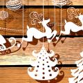 Трафареты на Новый год: варианты праздничного декора и лучшие идеи своими руками фото