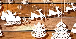 Трафареты на Новый год 2021: варианты праздничного декора и лучшие идеи своими руками фото