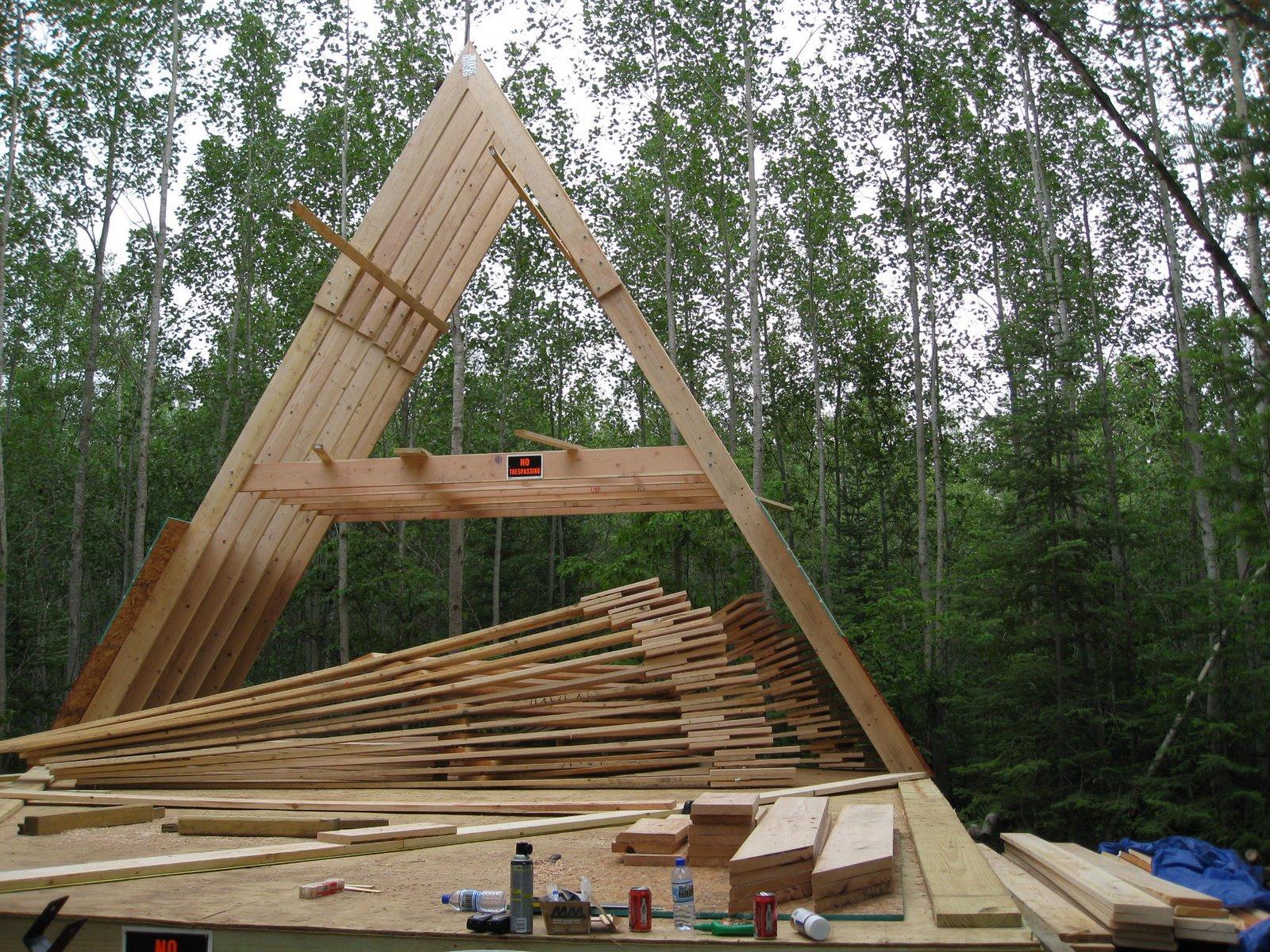 Строительство треугольного дома - фото и проект