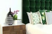 Фото 1 Интерьер бело-зеленой спальни: секреты гармоничных сочетаний и выбор декора