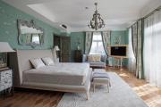 Фото 14 Интерьер бело-зеленой спальни: секреты гармоничных сочетаний и выбор декора