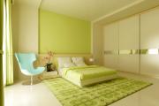 Фото 3 Интерьер бело-зеленой спальни: секреты гармоничных сочетаний и выбор декора