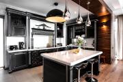 Фото 5 Черные интерьеры (65+ фото строгих и стильных решений): правила сочетаний черного и белого в дизайне