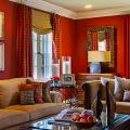 Этюд в алых тонах: классические и современные интерьеры с красными обоями фото