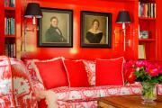 Фото 9 Этюд в алых тонах: 65+ фото классических и современных интерьеров с красными обоями