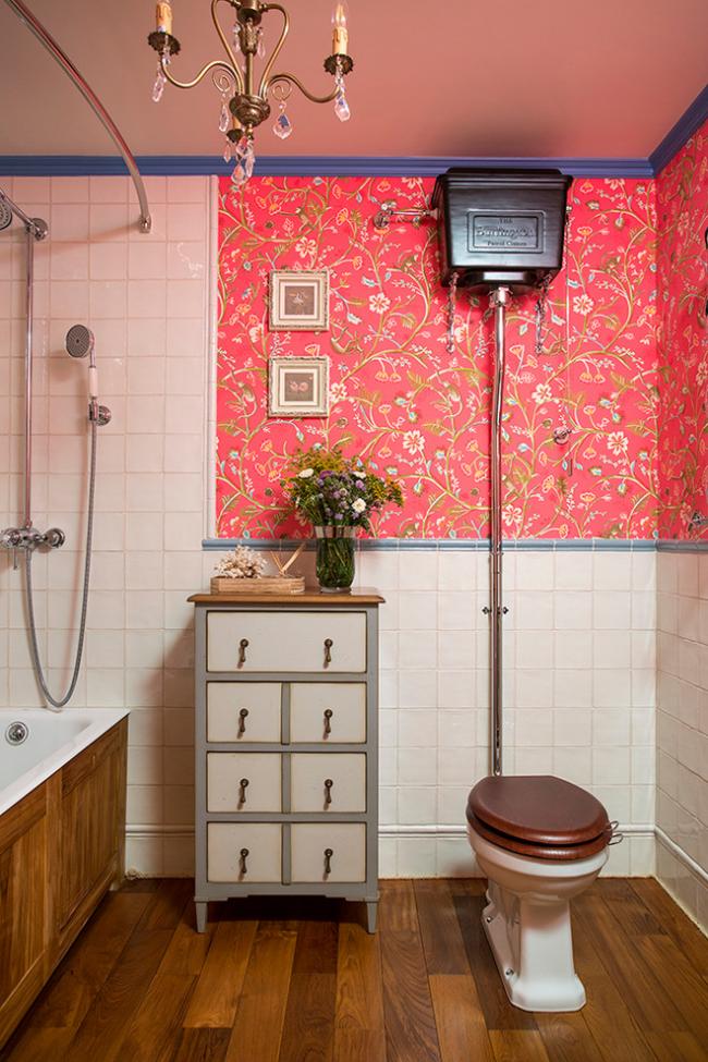 Ванная комната в стиле ретро