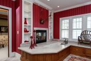 Фото 2 Этюд в алых тонах: 65+ фото классических и современных интерьеров с красными обоями
