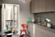 Фото 9 Светлые мини-решения: особенности дизайна кухни 10 кв. метров с балконом