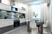 Фото 10 Светлые мини-решения: особенности дизайна кухни 10 кв. метров с балконом