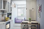 Фото 12 Светлые мини-решения: особенности дизайна кухни 10 кв. метров с балконом
