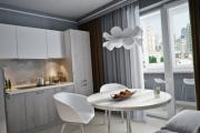 Фото 15 Светлые мини-решения: особенности дизайна кухни 10 кв. метров с балконом