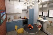 Фото 17 Светлые мини-решения: особенности дизайна кухни 10 кв. метров с балконом