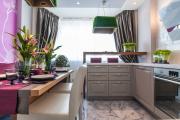 Фото 23 Светлые мини-решения: особенности дизайна кухни 10 кв. метров с балконом