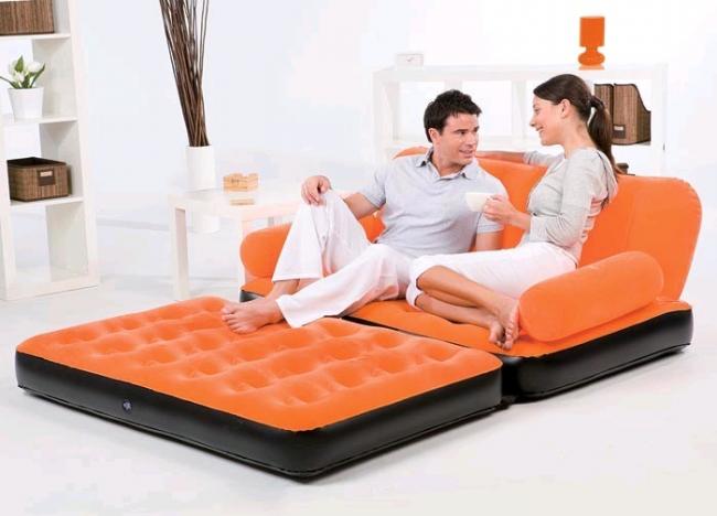 При необходимости эту мебель легко сдуть и она не будет занимать много места