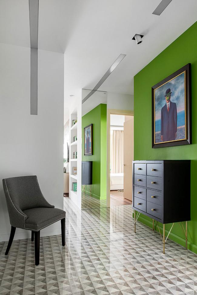Интересное цветовое решение со стенами