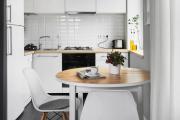 Фото 28 Экономия места без ущерба удобству: как выбрать стол и стулья для маленькой кухни?