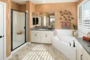 Фото 13 Альтернатива плитке в ванной: выбор экспертов — чем можно заменить кафель в санузле?