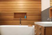 Фото 14 Альтернатива плитке в ванной: выбор экспертов — чем можно заменить кафель в санузле?