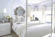 Фото 29 Трендовый цвет для спальни — белый глянец: 70+ современных и классических интерьеров в белоснежных тонах