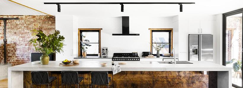 Бетонная столешница на кухне (80+ фото моделей): плюсы-минусы, уход и монтаж своими руками