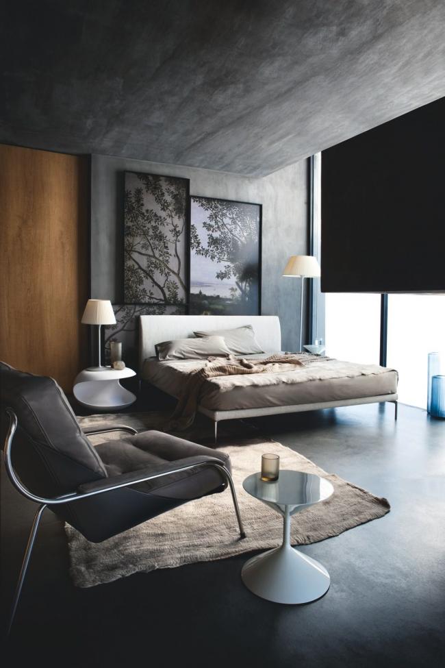 Оформление помещения в естественной цветовой палитре с минимальным набором декораций