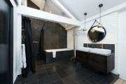 Фото 24 Черная ванная комната — тренд сезона: 65 стильных идей дизайна в черном цвете