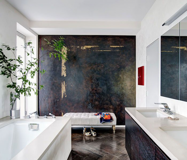 Акцентные элементы декора освежают интерьер помещения